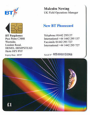 BT Visiting Cards £1 Malcolm Newing VIS004 mint Type 1 reverse 250 issued.