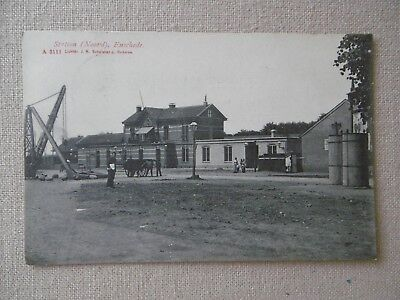 """Oude Ansichtkaart  """" Enschede """"  Station  (Noord)  - Pays-Bas"""