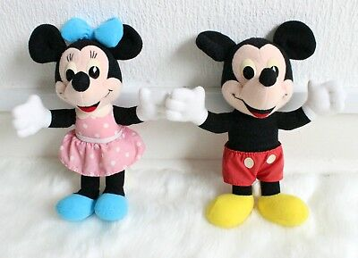 Vintage Mickey Mouse Minnie Mouse Plush Toy Soft Toy Disney Store Rare Limited