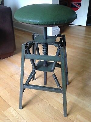 VERY RARE CHARLES E. MILLER DESIGNED AMERICAN 1920s INDUSTRIAL ARCHITECTS STOOL