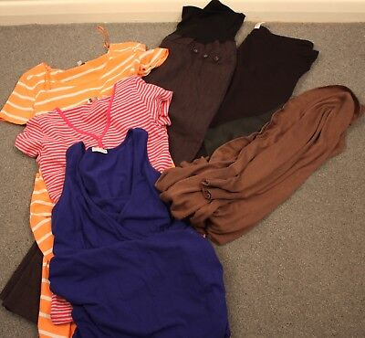 Bulk Maternity Medium Size, 2 Pair Of  Pants, 1 Cardigan, 1 Dress, 1 Tshirt.