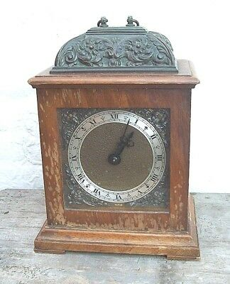 Small Smiths Caddy Topped Bracket Clock  ( easy restore fully working )