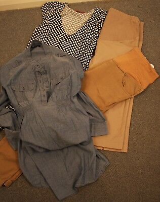 Bulk Maternity Medium, Size12 To 14 , 2 Pair Of  Pants, 2  Dresses.