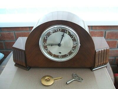 Antique / Vintage / Art Deco / Perivale Westminster Chime Large Mantle Clock
