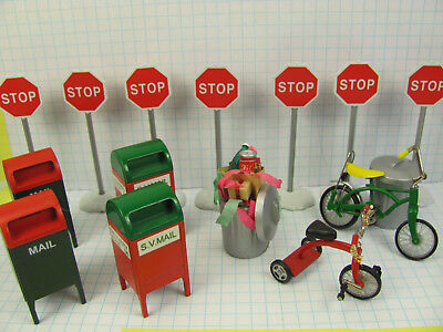 Dept. 56 Snow Village ~ Accessories and figures, bicycle and tricycle from 1990s