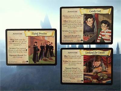 Harry Potter - Trading Card Game - 3 x Adventure Cards - Mixed