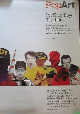Pet Shop Boys - Pop Art (Original Double Sided Picture Promotional Poster)