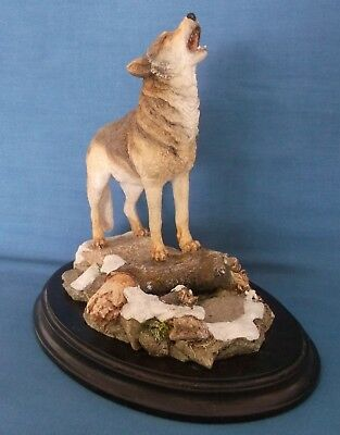 Country Artists Howling Wolf Large Figurine 1993 Sherwin Wildlife England