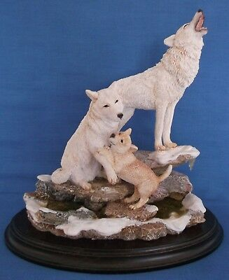 Country Artists Signs Of Spring Wolves Group Large Figurine 1995 England Rare