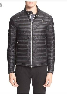 abe7683ba Moncler Picard Quilted Down Moto Puffer Jackets Size 1 XS Small S New Black