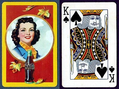 WWII 1940s Coca Cola Playing card King of Spades Excellent.Vintage Collectible
