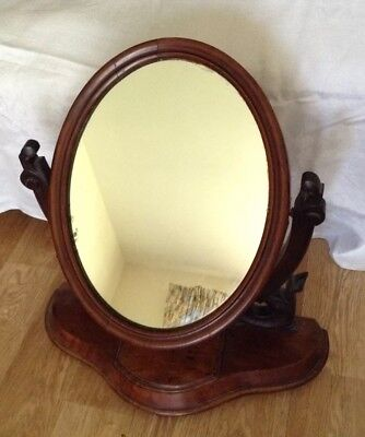 Victorian large mahogany vanity swing mirror for spares or repair
