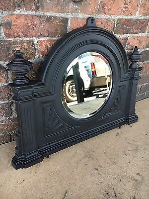 55c  Beautiful Original VICTORIAN cast Iron Fireplace  over mantle Mirror