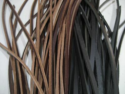 Leather Strips Off Cuts,  3Mm To 6Mm X 34 Strips