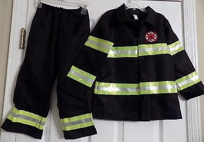 Child's Boy's Girl's Halloween Costume Fireman Fire Captain Outfit Shirt Pants