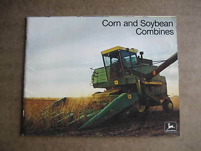 Vintage 1975 John Deere Corn & Soybean Combines Sales Brochure