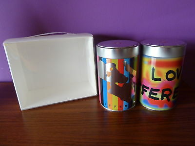 Illy  Collection 2 Empty Illy Tin Cans By Pistoletto + Box Sebastiao Salgado