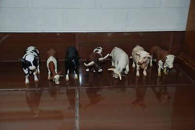 Lot 7 Schleich Cow Germany Longhorn And Other