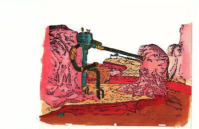 """Original production Taarna water color background for """"Heavy Metal"""" 1981"""