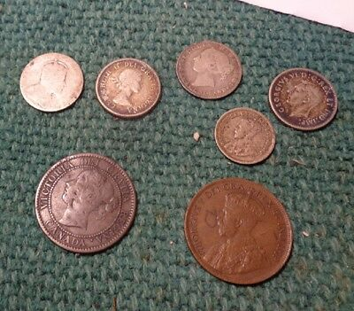 Canadian-- old coins mixed collection