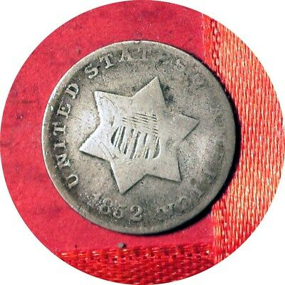 1852 Three Cents Silver