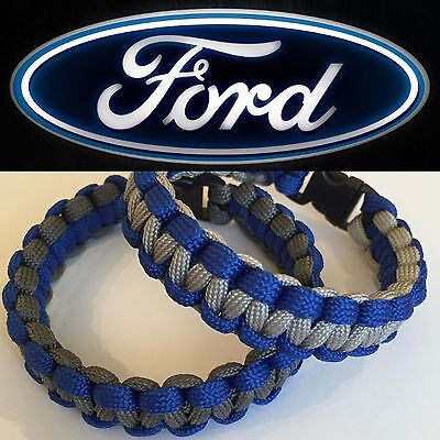 Paracord Band Handmade In Ur Size Available In Ford Rs & Ford St Colours..