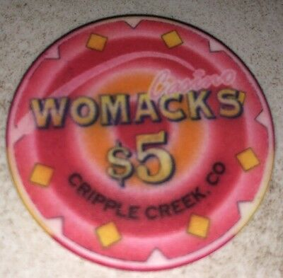 Womacks Casino  $5 Casino Chip Cripple Creek Colorado 2.99 Shipping