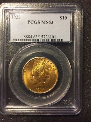 1932 -  $10 Gold  PCGS MS63 - Indian Head Eagle