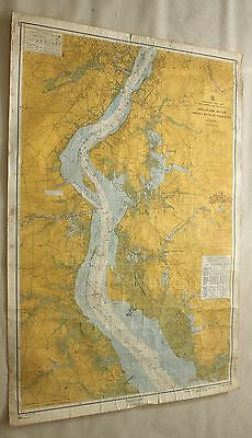 Delaware Smyrna River to Wilmington #294 Vintage Sailing Map C&GS Nautical Chart