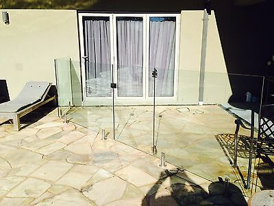 Glass Pool Panelling 1200mm x 1290mm x 8mm thick