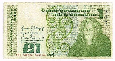 1984 IRELAND ONE POUND NOTE - p70c