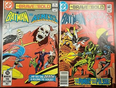 BRAVE AND THE BOLD- TWO (2) BOOK LOT - 193 & 198 - Batman, Nemesis, Karate Kid