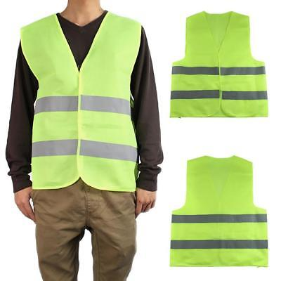 New Adults Hi Visibility Vest Safety Waistcoat Yellow High reflective