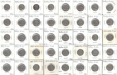 Lot of (40) Assorted Dates and Mint Marks Buffalo Nickels U-Grade