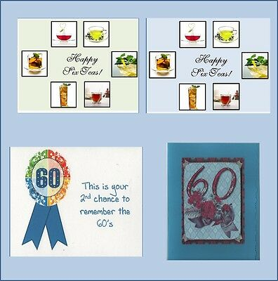 Handmade 60th Birthday Cards Free Shipping In USA