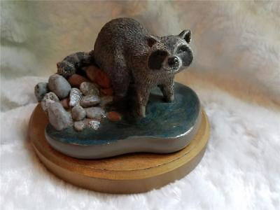 1982 Crayfish Bandit - Marty Fine Collectible by Martha Carey SIGNED Raccoon