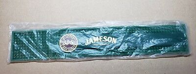 Jameson Irish Whiskey Bar Mat Green Rubber Man Cave Accessories Collectible