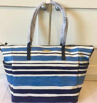 NWT Kate Spade NY Multi Color Stripes Tote Bag Baby Diaper Adaira Grant St. $398