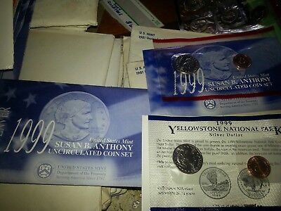 1999 Susan B Anthony Uncirculated Coin Set with COA