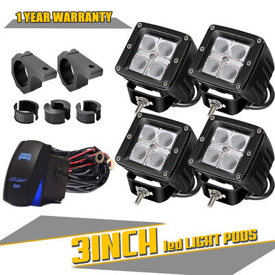 16W Dual LED Pods w/ Foglight Bracket/Wirings For Avalanche Silverado 1500 2500