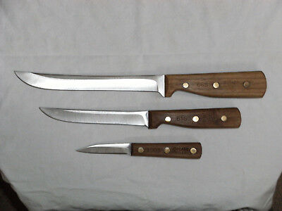 Lot Of Three Nice Chicago Cutlery Knives...numbers 66S, 61S And 100S...estate