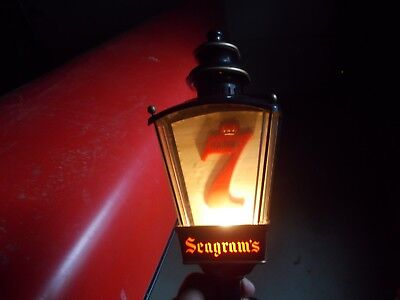 Vintage Seagram's 7 Lighted Wall Sconce