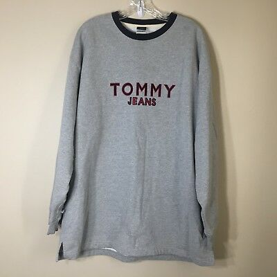 Vintage Tommy Hilfiger Tommy Jeans Pullover Crew neck Sweatshirt SIZE XL