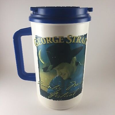 Vintage George Strait Country Music Festival 32oz Thermos Mug Made in USA