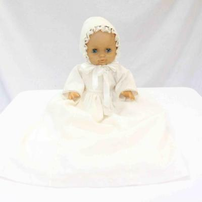 Vintage Blue Eyes Baby Doll with White Night / Christening Dress #15183