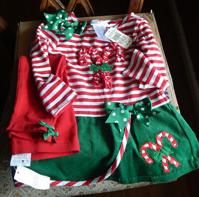 Bonnie Jean Christmas Outfits.Girls Bonnie Jean 2 Pc Christmas Outfit Size 2t