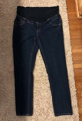 Three Seasons Demi Panel Maternity Skinny Jeans XXL 2X Adjustable Waist VGUC