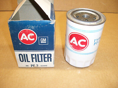 A/C Delco PF 2 Vintage Oil Filter (White) Chrysler and Ford Applications N.O.S.