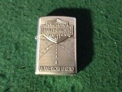 Zippo Windproof Harley Davidson motor cycle lighter. excellent condition.