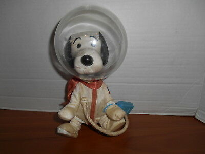 Vintage Astronaut Snoopy Doll 1969 Determined Productions With Flight Safety Bag